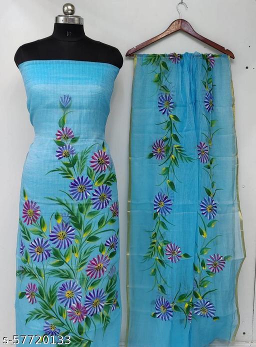 Kota Doria Painting Dress Material Suits