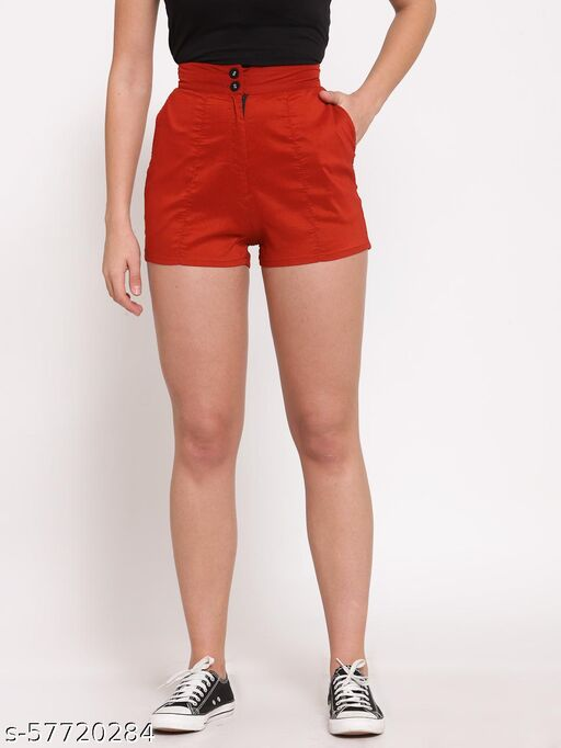 LUCERO HIGH WAIST SHORTS WITH SIDE POCKETS