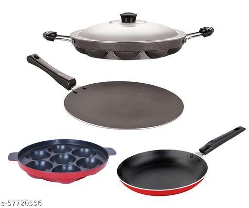Nirlon Heat Resistance Kitchenware Combo Essential Combo Set Offer 4 Piece, CT11_TP_AP(7)_AP(12)