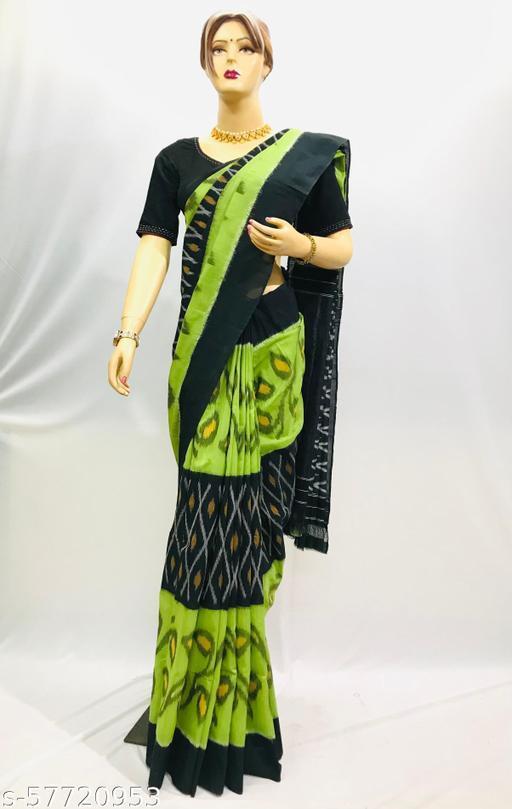 Pick Fashion Handwoven Ikat Patola Cotton Saree