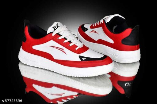 UNIYARA Mens Party Wear Casual Sneakers (Red)