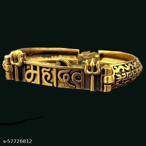 mahakal gold plated new style kada