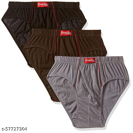 VIP FRENCHIE MENS COTTON BRIEF PACK OF 3