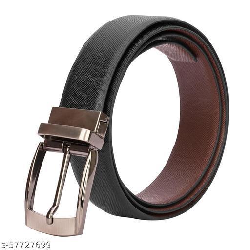 Genuine top grain leather reversible belt for men, buckle belt, jeans belt, both sided wearing leather belt, black brown belt for boys, twistable buckle belt mens leather belt