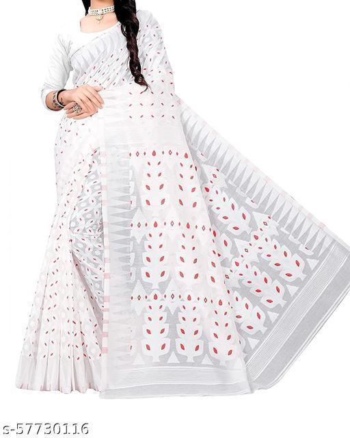Trendy All Over Soft Minakari Dhakai Jandani Saree(Cotton Silk)