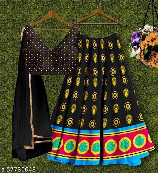 AK FASHION WOMEN'S Silk Semi Stitched Lehenga Choli