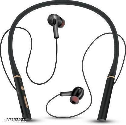 Vingajoy CL-5300 Wireless Neckband Bluetooth without Mic Headset  (Black, True Wireless)