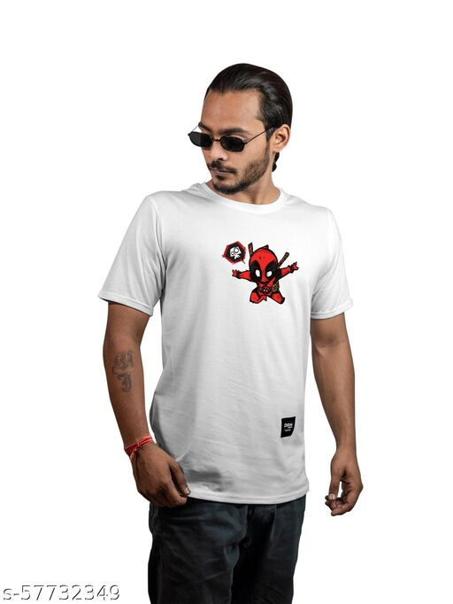 Deadpool Printed Cotton T-shirt for Men