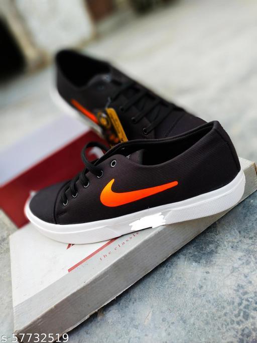 Canvas black shoes