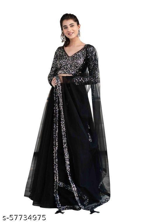 Black Sequance Women's Lehengha Choli