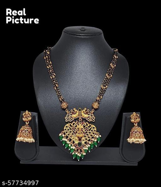 Premium Quality Karimani haram with Lakshmi pendent