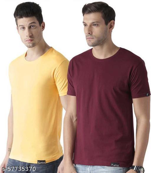 WOMANIYAWEB 180GSM cotton t-shirt for man and boys (combo of 2)