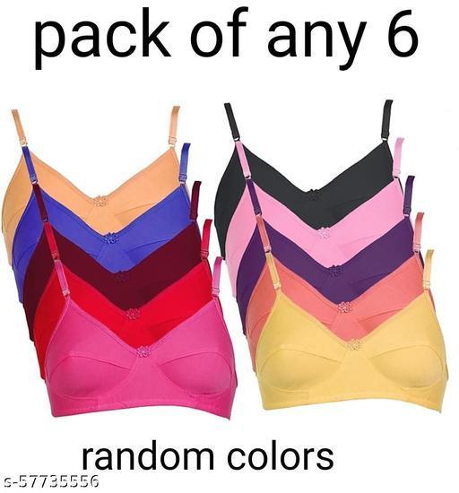 pack of any six  Bra