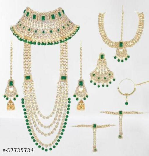 New Red Green Bridal Set For Women
