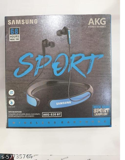 Bluetooth Stereo Sports Headset Compatible with Xiaomi, Lenovo, Apple, Samsung, Sony, Oppo, Gionee, Vivo Smartphones(Multicolour)