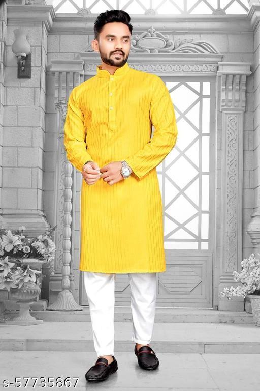 CR Fashion Men's Twinkle Kurta Pyajama