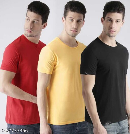 womaniyaweb 180gsm cotton t-shirt for man and boys (combo of 3)