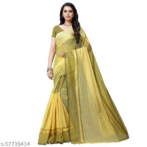 PRIMECHOICE Brand Cotton Silk Lining Letest Trendy  Saree Design For Women.