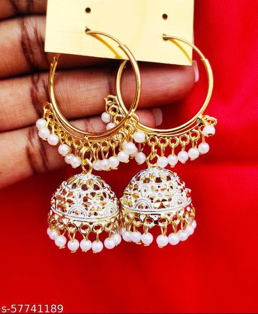 Ethnic half hoops Earrings & Studs
