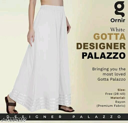 Women Designer Long Flraed Gotta Palazzo