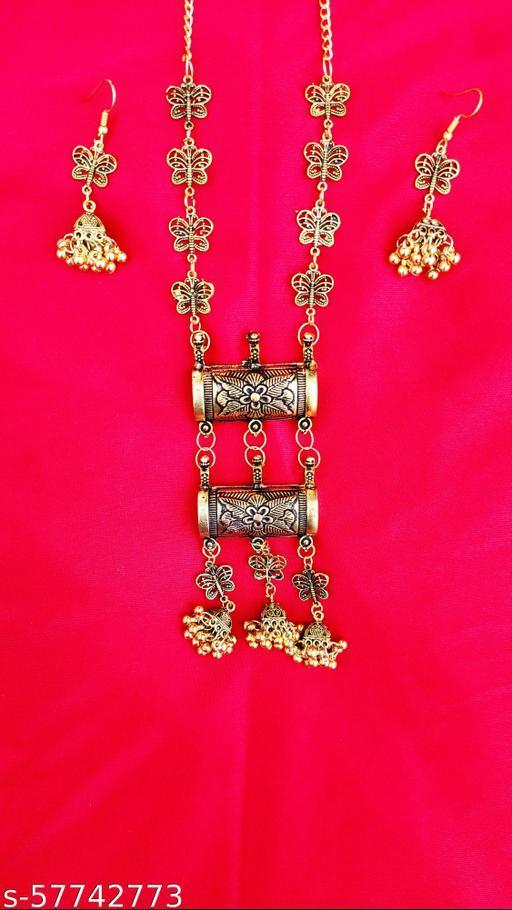 Golden butterfly Jewellery set