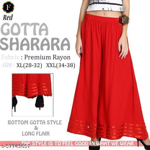 Women Designer Long Flraed Gotta Sharara