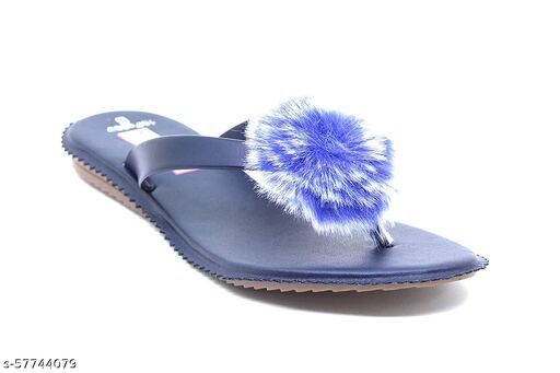 Shoogle Footwear Women's Blue Flat Fashion Flats