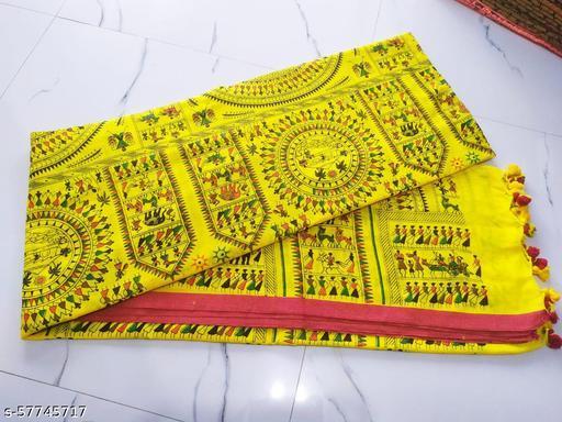 new khadi cotton madhubani print Saree