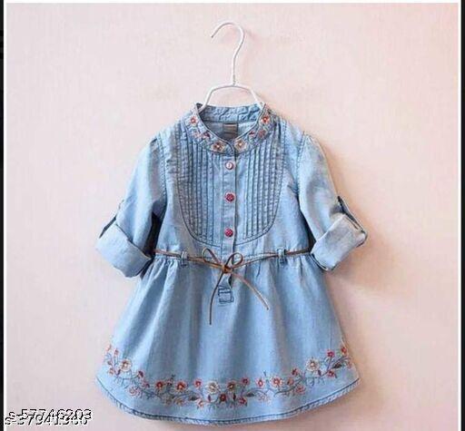 Embroiderykids-light blue Frocks & Dresses