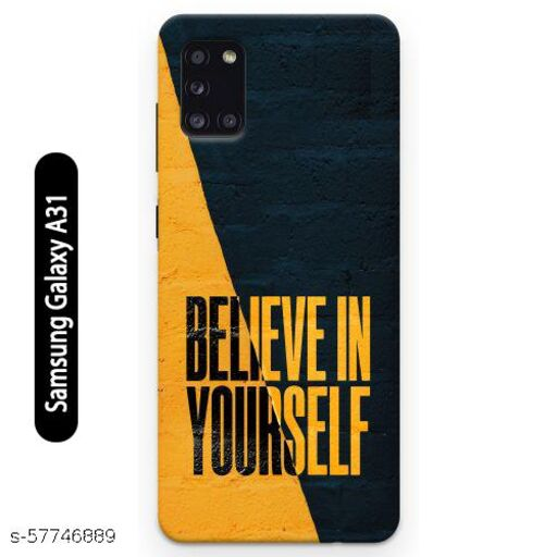 Samsung Galaxy A31 Back Cover Design Pattern Hard Printed Lightweight Slim Case (Believe in Yourself Quote)