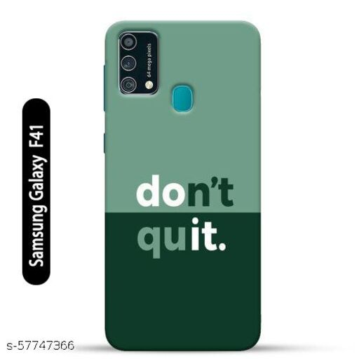 Samsung Galaxy F41 Back Cover Design Pattern Hard Printed Lightweight Slim Case (Don't Quit Quote)