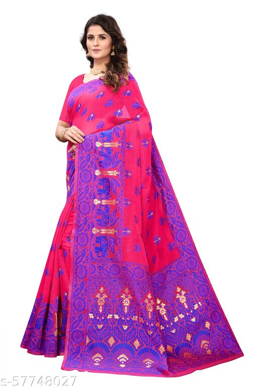 Dhakai Jamdani Cotton Soft Silk Light weight Transparent Saree With Chakri Desine multi color for Women's