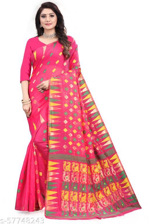 Dhakai Jamdani Cotton Pretty Sarees