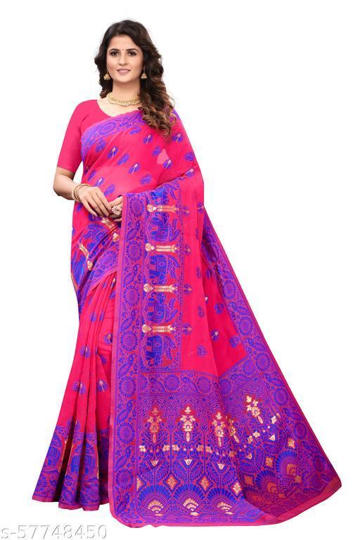 Dhakai Jamdani Woven Design with Light Weight saree
