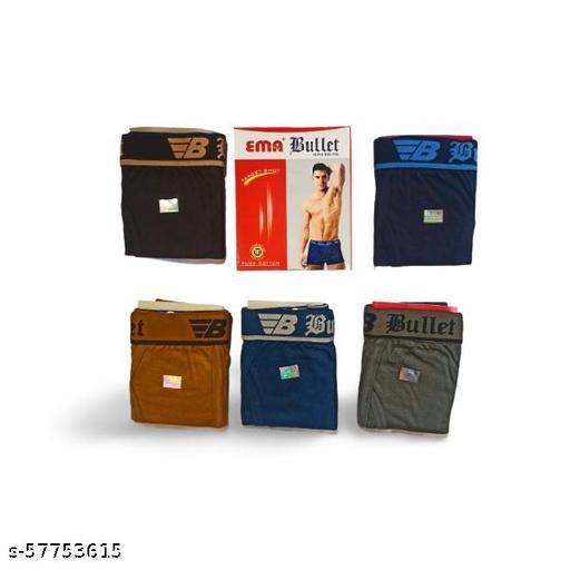 PACK OF 5 - Mens cotton mini trunk underwear