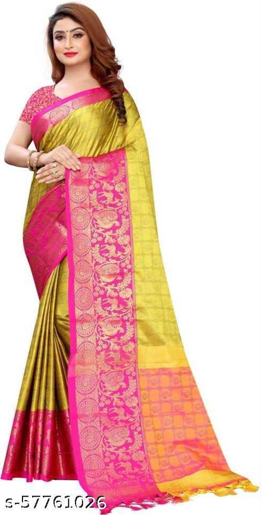 Banarasi soft Cotton Silk Saree