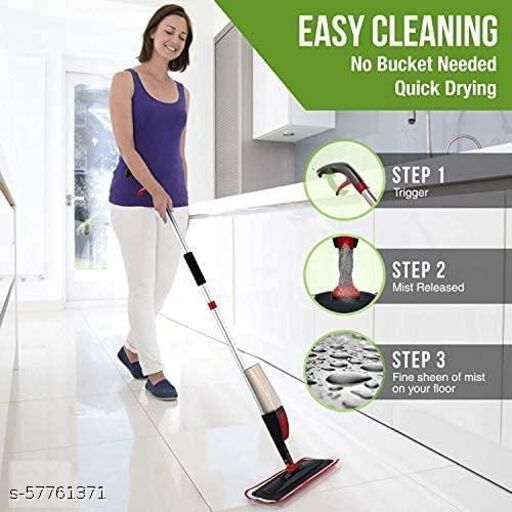 Rifashion-Aluminium Spray Mop Set with Microfiber Washable Pad, Best 360 Degree Easy Floor Cleaning Mop for Home & Office, Mop for Home Cleaning, Mop Floor Cleaner (Spray Mop)