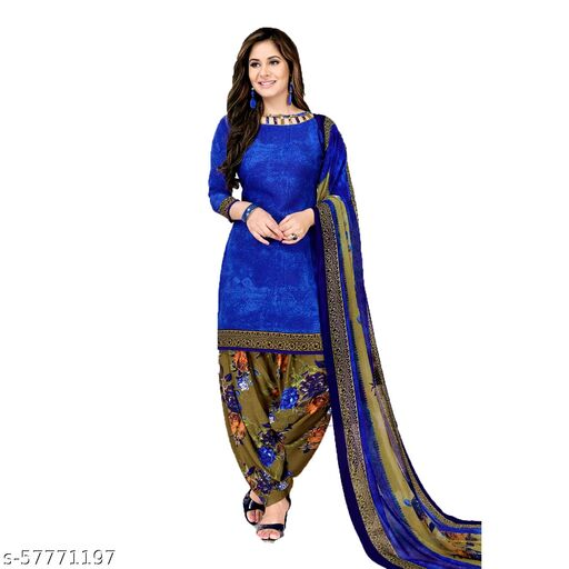 GiftsnfriendsCrepe Printed Salwar Suit Dress Material(Unstitched)