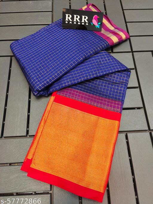 Mini Kuppadam Zari Chesks Silk Cotton Saree