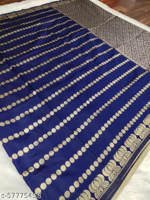 Fancy Jacquard Saree BLUE& BLACK PATTI