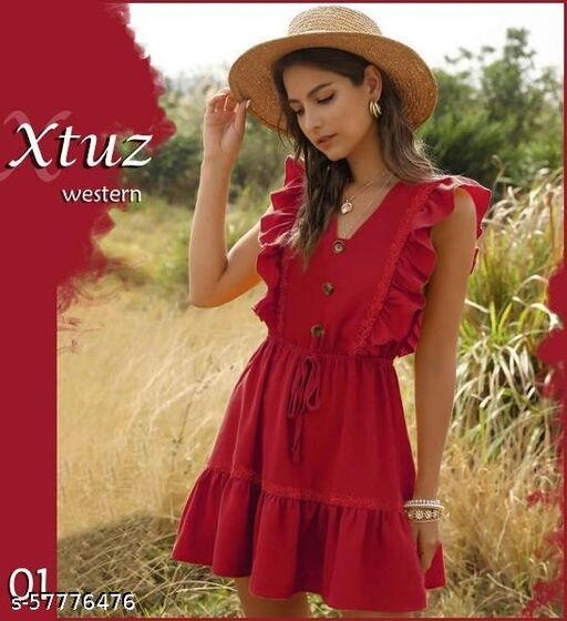 AR COLLECTION Women's Fit & Flare Length Western Dress