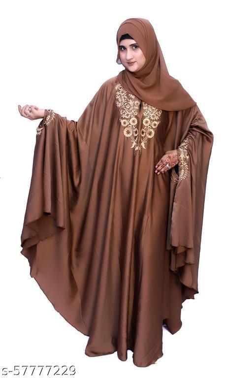 Dua Abaya Beautiful free size Irani Kaftan with Embroidery design for women & girl's
