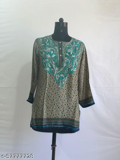 Premium Cotton Short Kurti  For Women