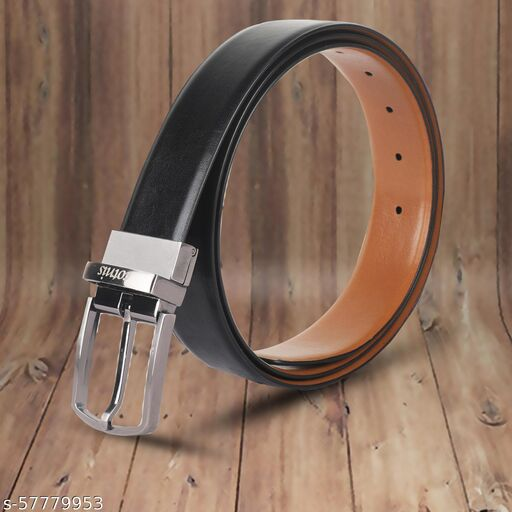 2 in 1 Reversible Artificial Leather Belts For Men   Turning Buckle   Double Sided   Formal   Casual   uniform   Jeans   Paints ( RPR-ARISTO1 MULTI)