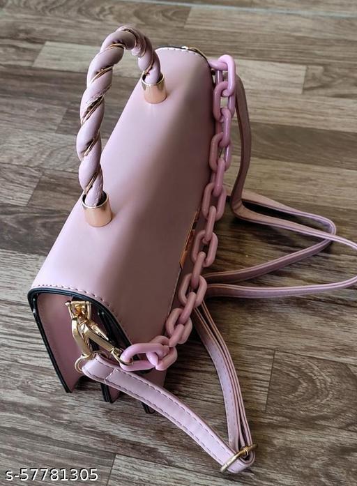 Girl's Slingbag/cross body bag, 1 short hand handle and 1 Shoulder straps, Pink