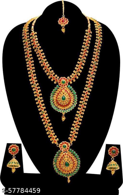 Stone Jewel Set  (Multicolor)