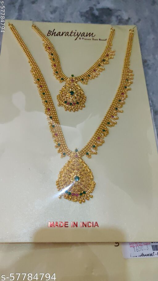 1gm gold paleted jewellery Necklace