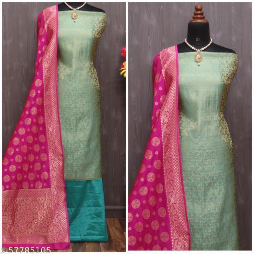Women's Unstitched Salwar Suit Fabric With Dupatta