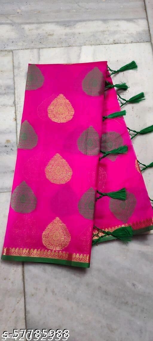 Pan buta fancy cotton soft new design saree