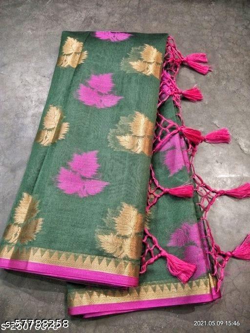 Mohabbate patti soft cotton silk saree